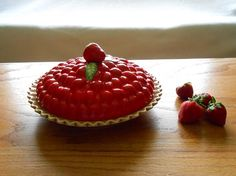 Vintage Covered Strawberry Pie Plate by WidhalmsCollectibles,  SOLD