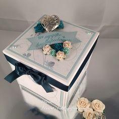 Eksplosjonsboks, kake, bryllup, North Star Stamps, North Star Design