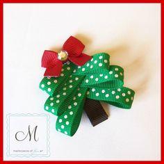 Polka Dot Christmas Tree Hair Clip  A Cute by MasterpiecesOfFunArt, $5.00  what an amazing idea!!!