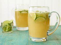 Lime Beer Cocktail recipe from Sandra Lee via Food Network Game Cocktail, Cocktail Videos, Cocktail Drinks, Party Drinks, Beer Cocktail Recipes, Beer Recipes, Summer Cocktails, Drink Recipes, Tailgating Recipes