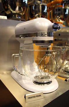 Delighful Kitchenaid Artisan Mixer Glass Bowl Color Frosted Pearl And Comes With A Clear Ideas