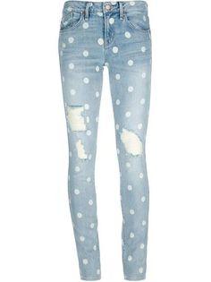 DIY Clothes Refashion: DIY Polka Dot Jeans