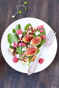 Fresh Fig Arugula Salad with Fig Feta Vinaigrette - CaliZona