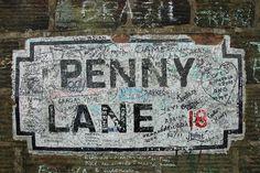 Penny Lane, Liverpool, England