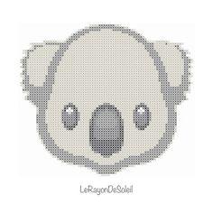 Emoji little koala animal Australia cross от LeRayonDeSoleil