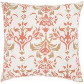 """Found it at Wayfair - T-3597 18"""" Decorative Pillow in Off White / Paprika"""