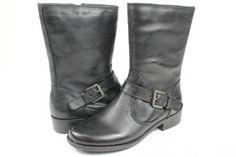 Bandolino Tisdale Black Leather Motorcyle Boots