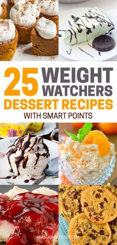 Weight Watchers Desserts Recipes with SmartPoints 25 Best Weight Watchers Desserts Recipes with SmartPoints Save these most delicious and healthy Weight Watchers desser. Weight Loss Meals, Weight Loss Drinks, Weight Watchers Meals, Healthy Weight Loss, Losing Weight, Weight Watchers Fluff Recipe, Weight Gain, Weight Watcher Desserts, 100 Calories