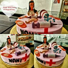 #Vanilla #flavor #Nurse theme #birthday #cake #MadeWithLove @ #MagickOven for our estimeed customer.  Call Puneet at 9425332484 to discuss how we can make birthday's special for your loved one.  #Best #cakes in #Ujjain #Party #Bithday #Event #bakery #breads #pastry #chocolates #pizza #pasta #burger