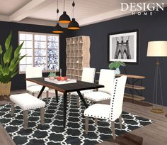 Design Home App, House Design, Outdoor Furniture Sets, Outdoor Decor, Decoration, Game Design, Conference Room, Dining Table, Home Decor