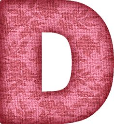 Presentation Alphabets: Pink Flower Fabric Letter D