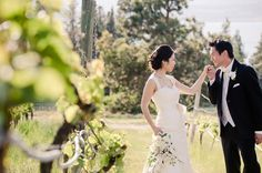 Winery wedding. So sweet!  Love this pose.