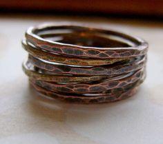 mixed metal stacking rings