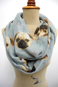 Scarf lovers, rejoice! | Community Post: 19 Perfect Gifts For The Pug Lover In Your Life