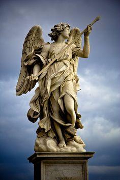 bernini sculpture Statue of Angel. Berninis marble statue of angel on the SantAngelo Bridge in R , Bernini Sculpture, Roman Sculpture, Sculpture Art, Gian Lorenzo Bernini, Greek Art, Angel Art, Photo Editing, Stock Photos, Michael Angelo