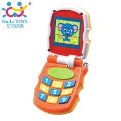 무료 배송 새로운 아기 장난감 아기 아이 학습 연구 뮤지컬 사운드 화려한 기본 플립 전화 장난감 6 개월 + 어린이 크리스마스 선물