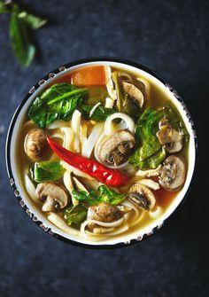 Thai Hot & Sour Soup A soup inspired by Thai Tom Yum. This  Mein Blog: Alles rund um die Themen Genuss & Geschmack  Kochen Backen Braten Vorspeisen Hauptgerichte und Desserts
