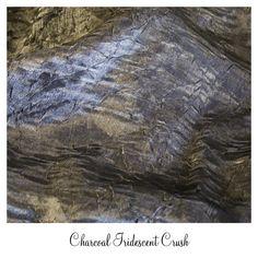 #www.Luxeeventlinen.com Charcoal Silver Crush Linen