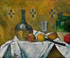 Paul Cézanne, Still Life: Flask, Glass, and Jug (Fiasque, verre et poterie)…