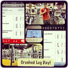 """Just SLAYED me some legs for my """"Look Good Naked Dressed To Kill"""" 6-Pack Challenge!  #visalus #bodybyvi #challenge #90daychallenge #legday #quads #calves #hamstrings #workout #fitguy #fitspo #beastmode #nyfitness #gym #weightlifting #weighttraining #fitness #cardio"""