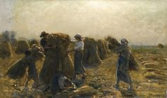 """Jules Breton (1827 - 1906)  """"La récolte"""""""