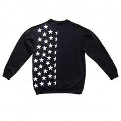 Half Starried Unisex Black sweatshirt Hoodies, Sweatshirts, Unisex, Stylish, Sweaters, T Shirt, Black, Women, Fashion