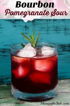 Bourbon Pomegranate Sour is a delicious cocktail for parties or the weekend!