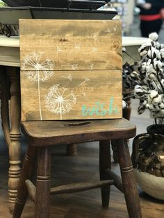 Come visit us at Vintage Decor & Craftery to purchase Annie Sloan Chalk Paint and learn how to use it! We offer DIY workshops and one-on-one instruction. Diy Workshop, Annie Sloan Chalk Paint, Vintage Decor, Wish, Chair, Painting, Furniture, Design, Home Decor
