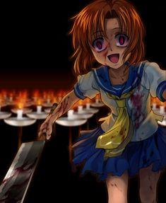 Ryuuguu Rena - Higurashi no Naku Koro ni - Image - Zerochan Anime Image Board Animes Yandere, Yandere Anime, Manga Anime, My Little Pony, Ero Guro, Yandere Girl, Psycho Girl, Corpse Party, When They Cry