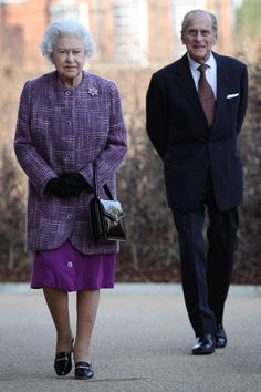 Queen Elizabeth and Prince Philip arrive for the official reopening of Kensington Palace in London after an extensive renovation project. Elizabeth Philip, Queen Elizabeth Ii, Diana Fashion, Royal Fashion, Prince And Princess, Princess Kate, Prince Harry, Windsor, Adele