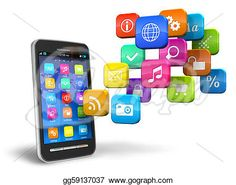 Stock Illustration - Smartphone with cloud of application icons. Clipart Illustrations gg59137037 - GoGraph http://www.gograph.com/illustration/smartphone-with-cloud-of-application-icons-gg59137037.html