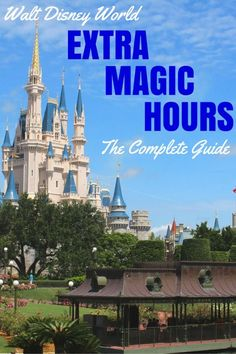 """Did you know that Walt Disney World opens early and stays open late for guests of Disney resort hotels? Find out how to make the most of """"Extra Magic Hours"""" in this comprehensive guide. Disney World Resorts, Disney World 2017, Disney Resort Hotels, Disney World Parks, Disney Vacations, Family Vacations, Vacation Destinations, Holiday Destinations, Disney Cruise Line"""