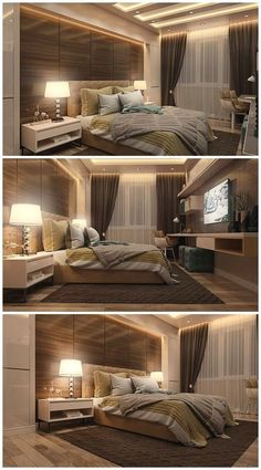 Stylish And Genius Master Bedroom Design Ideas 15 ~ TopInteriorsDesign.Com ideas master Stylish And Genius Master Bedroom Design Ideas 15 Luxury Bedroom Design, Bedroom Bed Design, Modern Master Bedroom, Trendy Bedroom, Home Decor Bedroom, Contemporary Bedroom, Master Suite, Bedroom Designs, Bedroom Classic