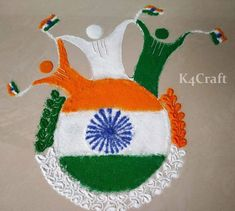 As India Republic day coming soon, the craze has caught specially among kids for January. So, we are here with republic day crafts for kids. 100 Diy Crafts, Hand Crafts For Kids, Easy Paper Crafts, Holiday Crafts, Arts And Crafts, Independence Day Activities, Independence Day India, Small Rangoli Design, Rangoli Designs
