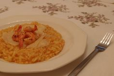 Risotto Milanese with Prawns