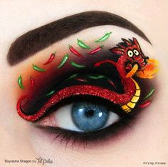 spicy and hot dragon eye makeup