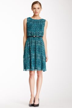 Calvin Klein Belted Printed Dress by Calvin Klein on @nordstrom_rack