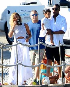 Beyonce and Jay on their yacht in Nerano, Italy