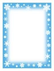 Winter Snowflakes Writing Paper - Snowflake writing paper — fun incentive for students and fun for teacher too - Christmas Frames, Noel Christmas, Christmas Paper, Christmas Cards, Free Christmas Borders, Boarders And Frames, Page Borders Design, Christmas Stationery, Borders For Paper