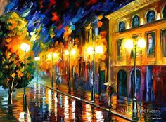 Leonid Afremov Fascination Of The Night oil painting reproductions for sale