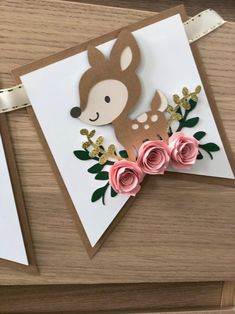 Woodland ONE Banner – ONE baby animals banner – ONE floral banner – Floral Banner – Baby Fox banner – Pink and gold glitter banner – Baby Shower İdeas 2020 Idee Baby Shower, Party Deco, Pink Und Gold, Diy And Crafts, Paper Crafts, Karten Diy, Floral Banners, Woodland Party, Diy Birthday
