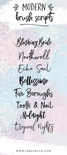 Look at these swoon-worthy brush fonts that you can use for all your graphic needs. They're well made and makes my heart flutter and I hope they do the same to yours too. Handwritten Fonts, Typography Fonts, Typography Design, Cursive Fonts, Design Fonte, Web Design, Vector Design, Brush Stroke Font, Brush Script