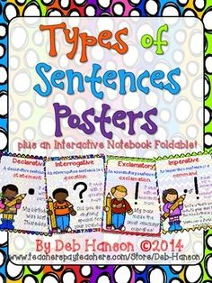 Four Types of Sentences Posters FREEBIE!