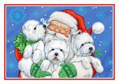 Westie Christmas Card Christmas XOXO by Borgo by BorgoDesigns, $15.00