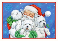 Westie Christmas Card Christmas XOXO by Borgo by BorgoDesigns, $15.00