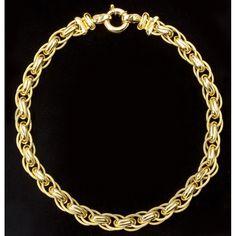 Elaborate Gold Link Necklace Sold $8,000