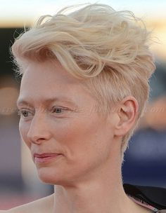 Tilda Swinton be amazen. short undercut hairstyle