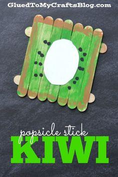 Popsicle Stick Kiwi - Kid Craft