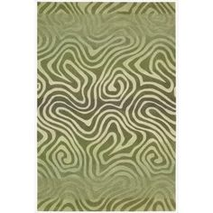 Hand-tufted Contour Abstract Zebra Print Avocado Rug (8' x 10'6) | Overstock™ Shopping - Great Deals on Nourison 7x9 - 10x14 Rugs