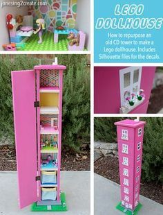 I am in love with this Lego dollhouse for girls! Great way to repurpose those old CD towers nobody uses anymore. I am in love with this Lego dollhouse for girls! Great way to repurpose those old CD towers nobody uses anymore.My Ladybug is crazy in love wi Lego Projects, Projects For Kids, Diy For Kids, Table Lego, Lego Craft, Lego Storage, Lego Friends Storage, Barbie Storage, Doll Storage
